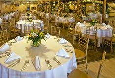 Quarto do banquete de casamento Fotografia de Stock Royalty Free