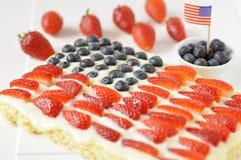 Quarto do bolo de julho Fotografia de Stock Royalty Free