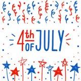 Quarto do cartão de julho Foto de Stock