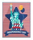 Quarto do Dia da Independência de julho ilustração do vetor