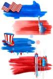 Quarto do Dia da Independência feliz América de julho ilustração royalty free