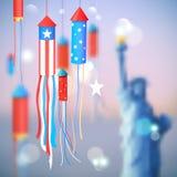 Quarto do Dia da Independência feliz América de julho Foto de Stock Royalty Free