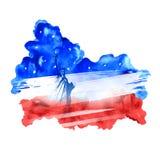Quarto do Dia da Independência feliz América de julho Imagem de Stock