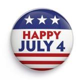 Quarto do emblema de julho Imagem de Stock Royalty Free