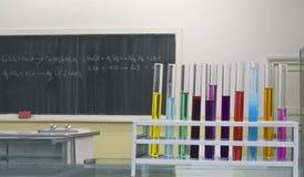 Quarto do laboratório de química Imagens de Stock