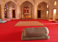 Quarto do Maharajah dentro do forte de Mehrangarh, Jodhpur Foto de Stock Royalty Free