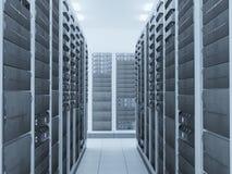 Quarto do server de rede Imagens de Stock