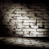 Quarto do tijolo de Grunge Fotos de Stock Royalty Free