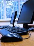 Quarto do treinamento de computador Fotografia de Stock