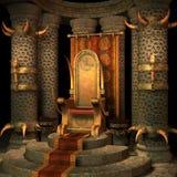Quarto do trono da fantasia Foto de Stock
