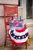 Quarto dos EUA do vintage da exposição de julho Imagens de Stock Royalty Free
