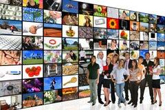 Quarto dos media Imagens de Stock