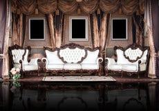 Quarto elegante do vintage. Palácio. Fotografia de Stock