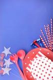 Quarto felice del fondo del partito di luglio Fotografia Stock