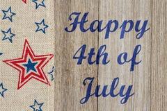 Quarto felice del saluto di luglio Immagini Stock Libere da Diritti