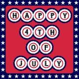 Quarto felice della cartolina d'auguri di luglio royalty illustrazione gratis