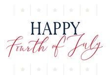 Quarto felice dello stelle e strisce di luglio royalty illustrazione gratis