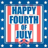 Quarto felice di luglio Fotografia Stock Libera da Diritti
