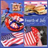 Quarto felice luglio, di collage di festa dell'indipendenza Fotografia Stock Libera da Diritti