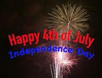 Quarto feliz de julho Fotografia de Stock Royalty Free