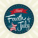 Quarto feliz de julho Imagem de Stock Royalty Free