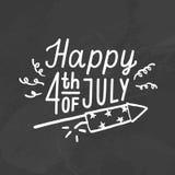 Quarto feliz de julho Fotos de Stock Royalty Free