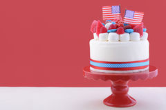 Quarto feliz do bolo da celebração de julho Fotografia de Stock