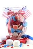 Quarto feliz do frasco dos doces de julho Imagem de Stock Royalty Free