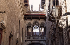 Quarto gótico em Barcelona Imagem de Stock Royalty Free