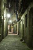 Quarto gotico di notte Fotografia Stock