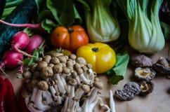 Quarto grupo de vegetais selecionados da qualidade e de um outro alimento Foto de Stock Royalty Free