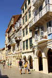 Quarto histórico da cidade de Corfu, Grécia Imagens de Stock Royalty Free