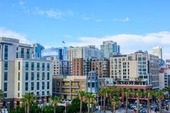 Quarto histórico de Gaslamp do distrito, San Diego, Califórnia, EUA Imagens de Stock