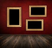Quarto interior vermelho Fotos de Stock