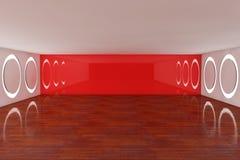 Quarto interior vermelho vazio Foto de Stock