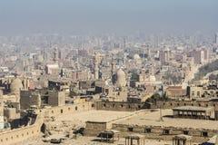 Quarto islamico di Il Cairo visto da Saladin Citadel, Egitto immagine stock