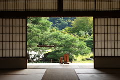 Quarto japonês Foto de Stock Royalty Free