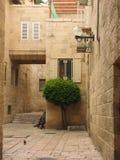 Quarto judaico na cidade velha do Jerusalém israel Fotos de Stock