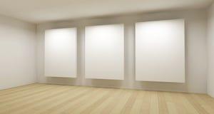 Quarto médico, arte 3d com frames vazios Fotos de Stock