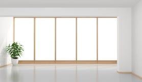 Quarto minimalista vazio ilustração do vetor