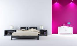 Quarto moderno da cama Fotografia de Stock Royalty Free