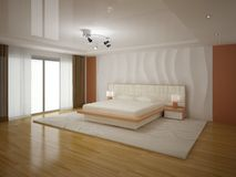 Quarto moderno interior Foto de Stock Royalty Free