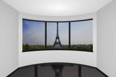 Quarto novo vazio em Paris ilustração do vetor