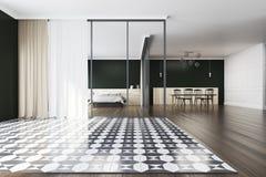 Quarto quadriculado e sala de jantar do assoalho Imagens de Stock Royalty Free