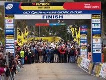 quarto tondo della tazza 2011-2012 di mondo di Cyclocross Fotografie Stock Libere da Diritti
