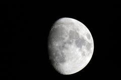 Quarto tre della fase della luna Fotografia Stock Libera da Diritti