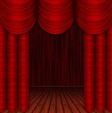 Quarto vazio com cortinas Fotografia de Stock