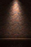 Quarto vazio com parede de tijolo Fotos de Stock Royalty Free