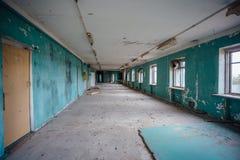 Quarto vazio Interior de construção abandonado Imagem de Stock
