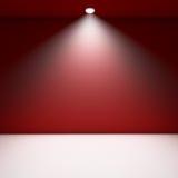 Quarto vazio vermelho. Imagem de Stock